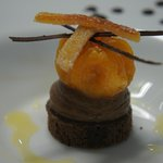 Candied orange with chocolate