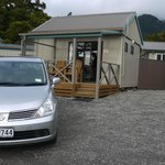 Our car and our cabin