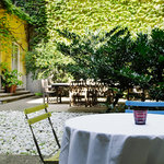 Enjoy our courtyard with us