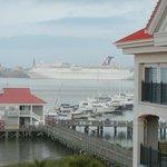 Cruise ship anchored in Charleston