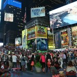 Times square fronte hotel