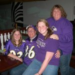 Cheering on the Baltimore Ravens at The Woolshed