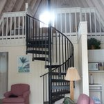 Loft in the A-frame cottage.  I slept in the upstairs bedroom