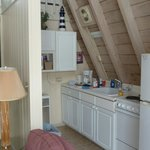 Kitchen at the Anchor Inn A-frame cottage