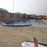 roof top pool during the day