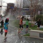 KIDS' PLAY AREA AT KLYDE WARREN PARK, DALLAS