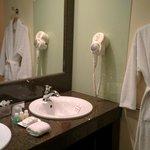 Vanity/sink area in bathroom