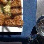Scallops savory buckwheat crepe...