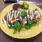 Chicken pepper chino palmadoro