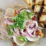 Steamed fresh clams