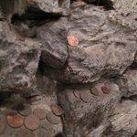 parete con le monetine