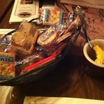 crackers and cheese upon arrival