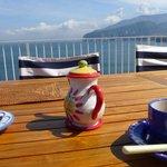 Breakfast overlooking Mount Vesuvius