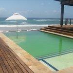 Pool by beach bar