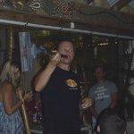 Gabriel performing the hoover-didgeridoo!