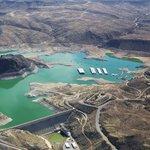 aerial photo of dam