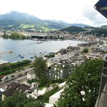 View from our room towards Lucerne.