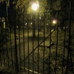 Colonial Cemetery at night
