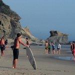 Enjoy skim boards, swimming or surfing.