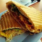 Cubano sandwich with an egg added