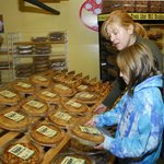 Choose your favorite pie in the Apple and Pie Room at the Fly Creek Cider Mill & Orchard