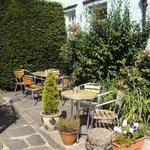 Sunny garden seating