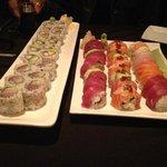 several varieties of standard rolls, plus specialty rolls