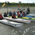 Dungeness Kayaking paddlers prepare to launch