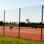 Tennis and basketball courts nearby