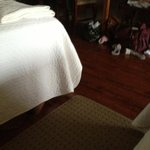 nice hardwood floors and bedspreads are nicer than run of the mill motel spreads