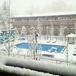 Vu from 3rd floor room on a snowy April morning