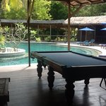library and pool table