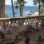 Breakfast on the balcony of the Master Villa