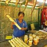 Handicrafts on sale at Aeta stalls