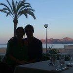 En el restaurante.....frente al mar