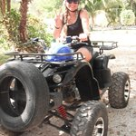 The ATV was really cool! Going around the jungle!