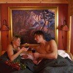 Romantic cabin.