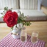 Unser Hochzeits-Zimmer sind romantisch und liebevoll für Sie dekoriert