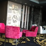 Executive lounge designed by Christian Lacroix