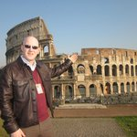 Stuart explains the wonders of the Colosseum