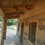 Old cabin front porch