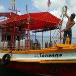 Golden Divers boat, with boatguy Karn