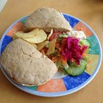 Tuna Sandwich, with Salad & Crisps, Cemlyn Tea Shop.