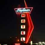Awesome neon sign at night