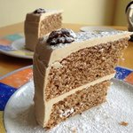 Coffee and Walnut Cake, Cemlyn Tea Shop.