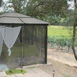 Outdoor massage area