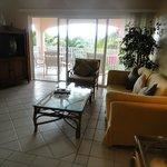 living area of condo.  very clean, quaint