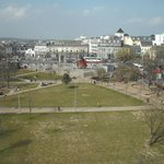 Eyre Sq from our room