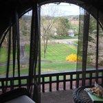 Veiled balcony retreat