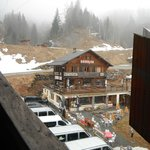 View of the Kitsch Inn from the nearby ski gondola Bellevue